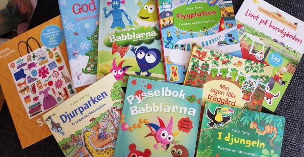 Många pysselböcker att välja på